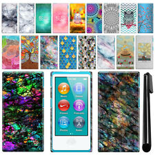 For Apple iPod Nano 7 7th Gen Art Design Protective Hard Case Back Cover + Pen
