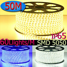 Party Christmas Lights Wedding Rope Light With Power Cord 3000LED Waterproof 50M