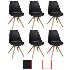 Black/White 2/4/6pcs Artificial Leather Dining Chairs Cafe Kitchen Dining Room