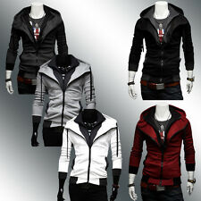New Mens Hoodie Zip Up Hoody Jacket Casual Sweatshirt Hooded Zipper Top Outwear