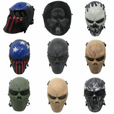 Airsoft Paintball Metal Mesh Eye Protect Full Face Mask Cosplay Game Skull Gear