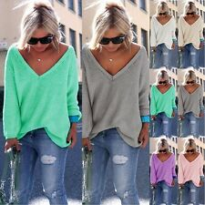 Women Lady Knitted Knitwear Long Sleeve Casual Pullover Sweater Coat Tops Jumper