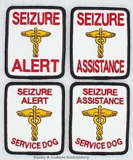 1 SEIZURE ALERT ASSISTANCE SERVICE DOG PATCH 2.5X3 in Danny & LuAnns Embroidery