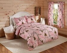 Realtree® AP Pink Comforter Set Decorative Rustic Camouflage Outdoor Outfitters
