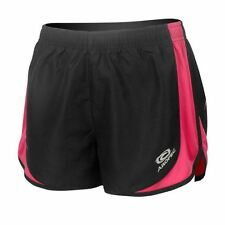 Aropec Womens Running Fitness Exercise Gym Shorts Black/Pink ST-RUN-01W-BK/PK