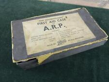 vintage WWII Era  A.R.P first aid box with contents Pins bandages ETC.