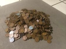 BAG OF 1000 WHEAT PENNIES 1940'S-1958 FREE SHIPPING !!!!