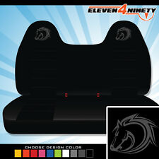 92-08 Ford F150-750 Black Front Bench Seat Covers T HORSE Logo. Chse Logo color