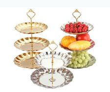 Stainless Steel Two/Three Layer Fruit Cake Tray Stand Rack Holder Wedding Decor