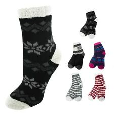 Nicole Miller Winter Themed Lined Double Layer Cozy Socks - Sizes 9-11