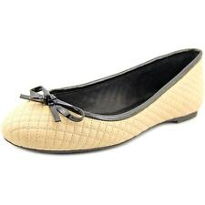 Michael Michael Kors Melody Quilted Ballet Women  Round Toe Leather Nude NWOB