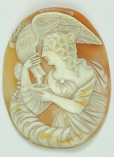 Antique Victorian Lady Hebe & The Eagle Olympus Hand Carved GorgeoUS Cameo