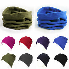Men's Womens Polar Fleece Beanie Hat Snood Scarf Neck Warmer Ski Balaclava Hot