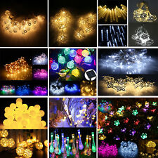 Solar/Battery Power 10/20/50/100 LED Fairy String Lights Xmas Party 17 Patterns