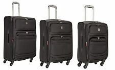 Delsey Luggage D-Lite 3 Piece Expandable Nested Spinner Luggage Set