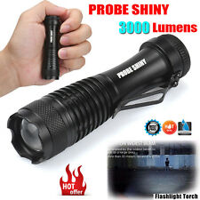 3000lm CREE Q5 AA/14500 3Mode ZOOM LED Super Bright Flashlight Mini Police Torch
