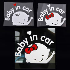 Cartoon Car Stickers Reflective Styling Baby In Car Warming Stickers Decal