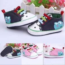 Frog-Pattern Baby Boy Girls Canvas Casual Shoes Soft Sneakers Toddler Shoes Boot