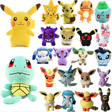 Pokemon Pikachu Eevee Squirtle Plush Character Soft Toy Stuffed Doll Teddy Gift