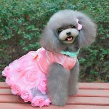 Elegant Dog Dress Pet Puppy Roses Decor Tutu Skirt Layered Clothes Apparel XS-XL