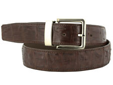mens brown genuine crocodile alligator western cowboy rodeo dress belt riding
