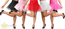 WOMENS NETTED TUTU UNDERSKIRT FANCY DRESS RETRO DANCE WEAR PETTICOAT 1950S SWING