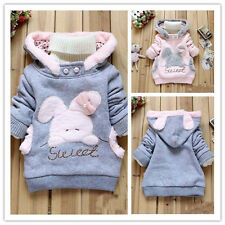 Toddler kids Baby Girls Winter Hooded Coats Jacket Child Tops Outerwear 2-6Y