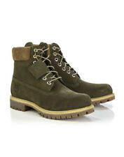 Timberland Men's Premium 6-Inch Lace Up Boots - Dark Olive Waterbuck