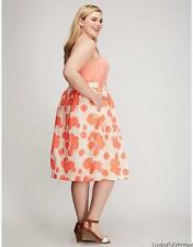 LANE BRYANT ~ NWT NEW! Plus 18 20 26 28 ~ Overlay NEON FLORAL Circle Skirt 2X 4X