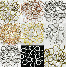 Practical 50-500Pcs Silver Plated Split Metal Super Jump Rings Finding 4-14mm