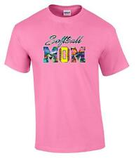 Softball Mom Mitt Support Daughter Team T-Shirt