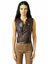 KILL CITY LIP SERVICE LEATHER BIKER MOTO ROCKER GOTHIC OX BLOOD JACKET VEST