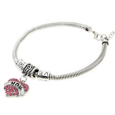 Fashion Jewelry Family Letter Heart Bracelet Love MOM/ NANA/ NIECE/ AUNT Bangle