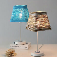 Rattan Traditional Antique Style Table Bedside Lamp Cafe  Lamp