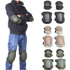 Outdoor Tactical Military CS Elbow Pads Knee Pads Brace Paintball Airsoft Skiing