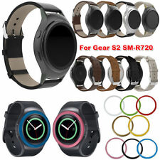 Leather Watch Band Strap + Lugs Adapters+Case for Samsung Galaxy Gear S2 SM-R720
