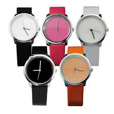 Wristwatches Pure Colors Leatheroid Youngster Girls Quartz Wrist Watches LF