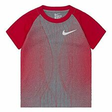 NIKE Toddler Dri-FIT Performance Raglan SS Tee ** DARK GRAY HEATHER/RED ** NWT