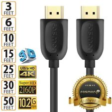 HDMI High Speed Gold Cable Cord M/M for PS3 XBOX HDTV HD - 3FT 6FT 15FT 25FT