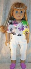 """Doll Clothes American Girl 18 """"inch Spring 2004 Leggings 2pc Floral White Lilac"""