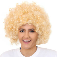 ADULTS BLONDE AFRO WIG 1960'S 1970'S DISCO HIPPY FANCY DRESS CLOWN FUNKY HAIR