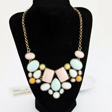 Stylish 1Pc Women Short Necklace Chain Geometric Polygon Sweater Necklace Gift