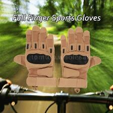 Hard Knuckle Tactical Gloves Full Finger Sport Shooting Hunting Outdoor W6F9
