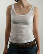 Alternative Apparel Women's Washed White Burnout Tank Tee