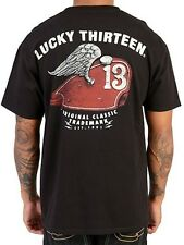 LUCKY 13 GAS TANK T SHIRT ROCKABILLY TRADEMARK MEN'S ORIGINAL CLASSIC WEAR