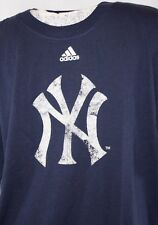 NEW Youth Boys Girls Kids ADIDAS New York YANKEES NY Baseball MLB NY Logo Shirt