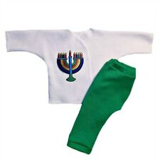 Colorful Menorah Jewish Hanukkah Baby Outfit 4 Preemie and Newborn Infant Sizes!