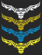 TRIBAL OWL  CAR WINDOW DECAL...PICK YOUR SIZE AND COLOR