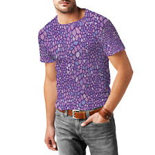Purple Monster Skin Mens Cotton Blend T-Shirt XS - 3XL Sublimation All-Over-Prin