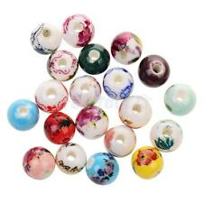 20x Mixed Floral Ethnic Ceramic Porcelain Beads Charms for Jewelry Making Crafts